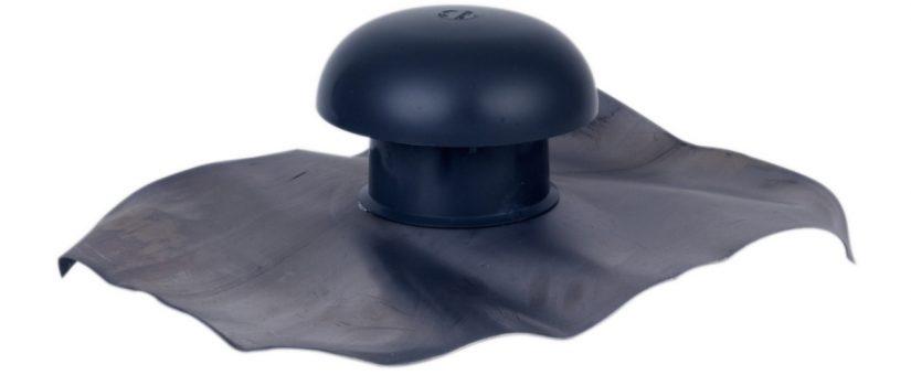 Chapeau de ventilation à collerette d'étanchéité PVC ardoise